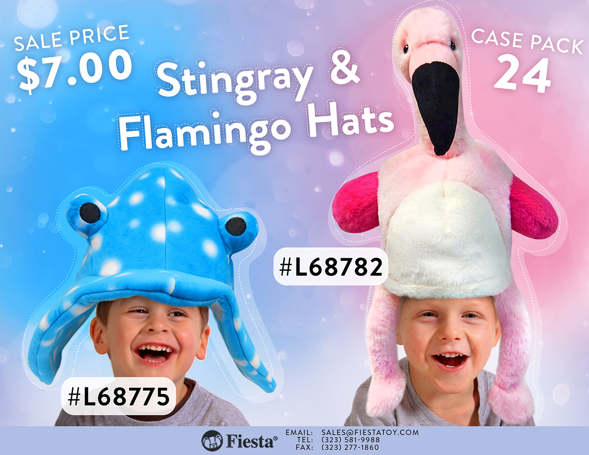Flamingo Hat and Stingray Hat Sell Sheet-01
