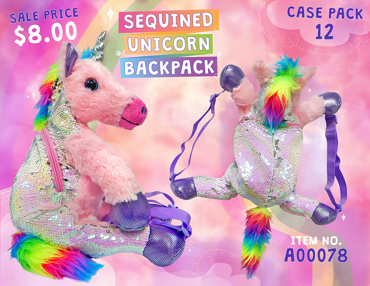 Unicorn Sequin Backpack Sell Sheet